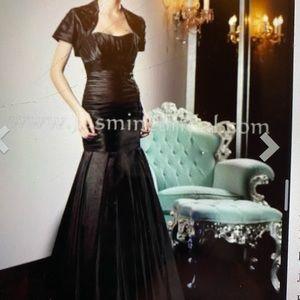 Mother of the bride black dress mermaid